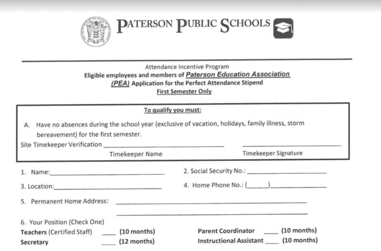 Perfect Attendance 1st Semester